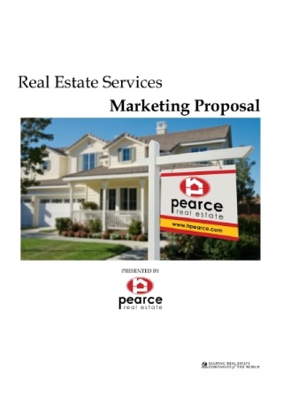 Real Estate Services Marketing Proposal