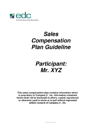 Sales Compensation Plan Guideline