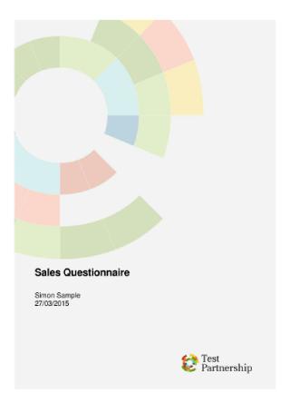 Sales Questionnaire