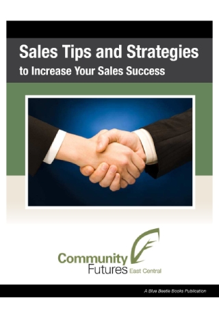Sales Tips and Strategies
