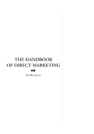 The Handbook of Direct Marketing