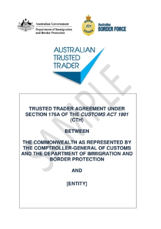 Trusted Trader Agreement