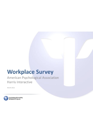 Workplace Survey Report