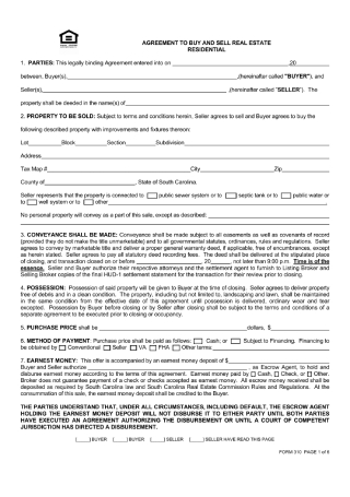 Agreement to Buy Sell Real Estate