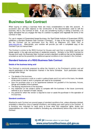 Business Sale Contract Format