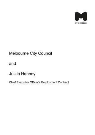 Chief Executive Officers Employment Contract