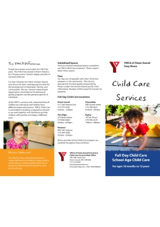 Child Care Business Brochure