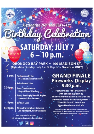 City Birthday Celebration Flyer