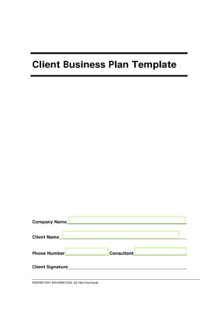 Client Business Plan