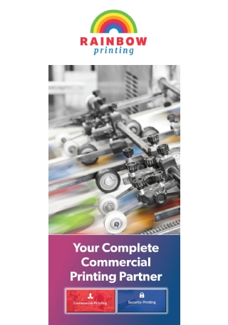 Commercial Printing Brochure