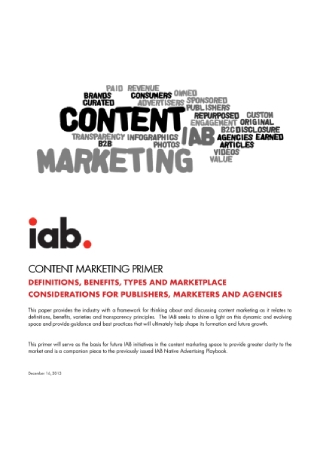 Content Marketing Primer