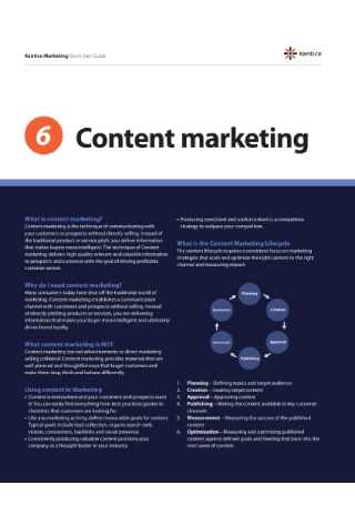 Content Marketing Quick Start Guide