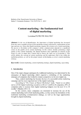 Content Marketing in Digital Marketing