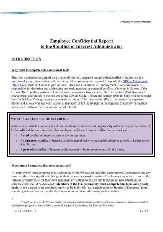Employee Confidential Report