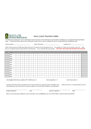 Family and Medical Leave Tracking Form