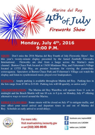 Fourth of July Fireworks Show Flyer