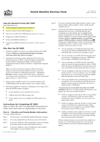 Health Benefits Election Form