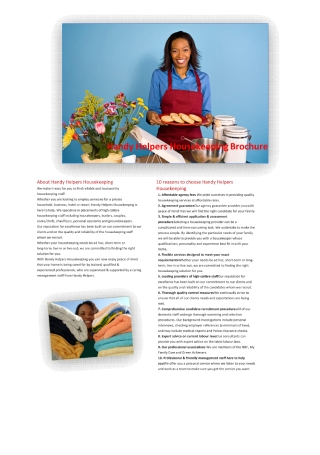 Housekeeping Brochure
