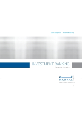 Investment Banking Brochure