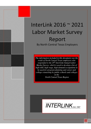 Labor Market Survey Report