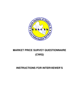 Market Price Survey Questionnaire