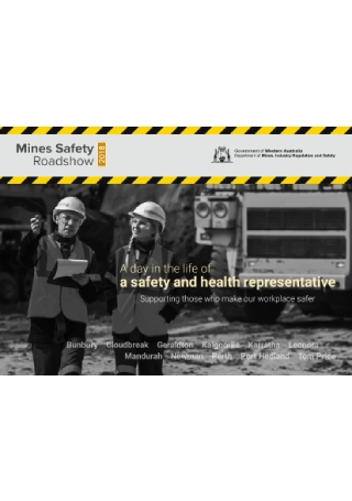 Mines Safety Roadshow Event Flyer