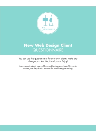 New Web Design Client Questionnaire