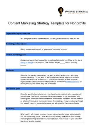 Nonprofit Content Marketing Strategy