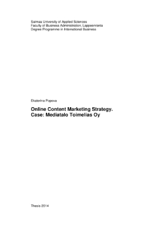 Online Content Marketing Strategy