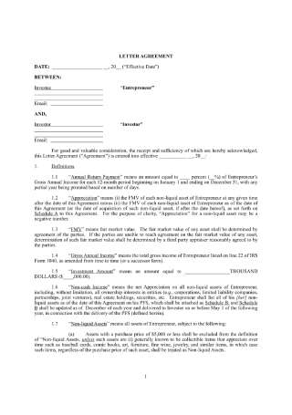 Personal Investment Contract