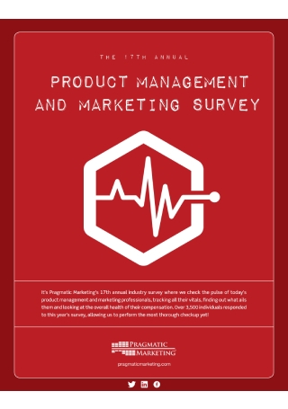 Product Management and Marketing Survey