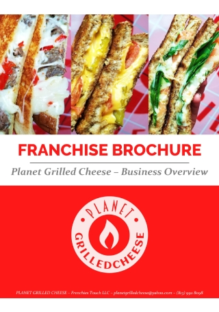 Restaurant Business Franchise Brochure