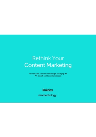 Rethink Your Content Marketing