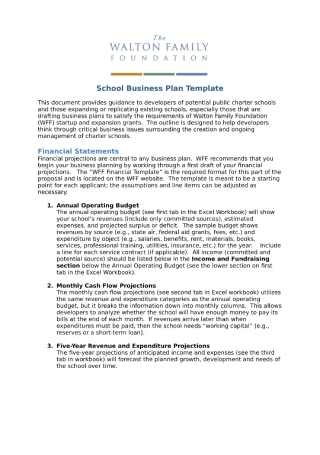 School Business Plan