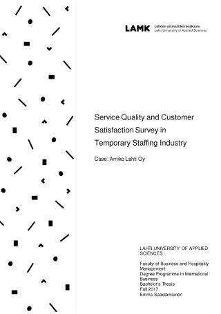 Service Quality and Customer Satisfaction Survey