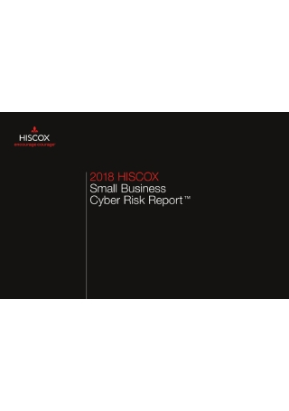 Small Business Cyber Risk Report