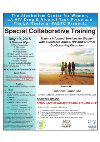 Special Collaborative Training Event Flyer