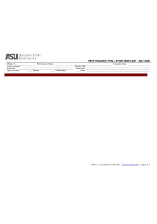 Staff Performance Evaluation Form