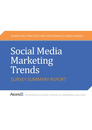 Survey Report on Social Media Marketing