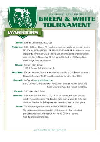 Track Wrestling Tournament Flyer