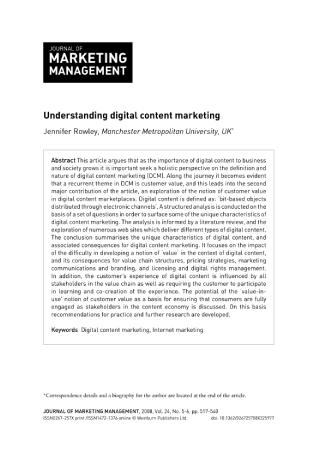 Understanding Digital Content Marketing