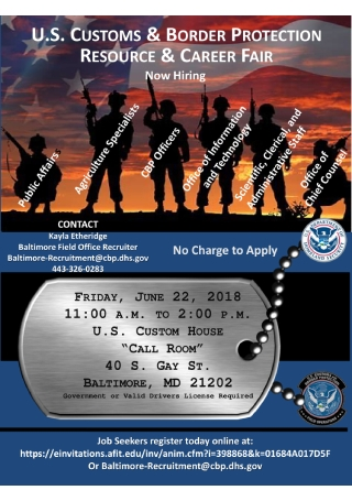Veteran Recruitment Event Flyer