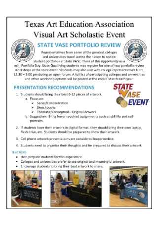 Visual Art Scholastic Event Flyer