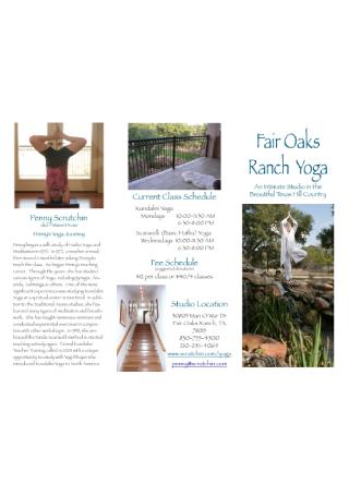 Yoga Business Brochure