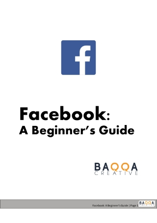 A Beginners Guide to Facebook Marketing