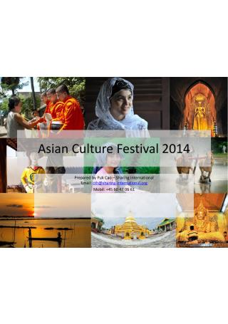 Asian Culture Festival Proposal