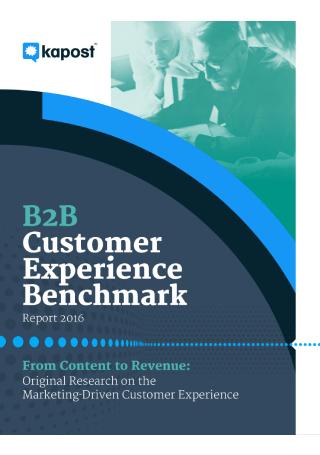 B2B Customer Experience Benchmark Report