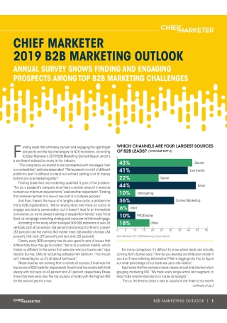 B2B Marketing Outlook Survey