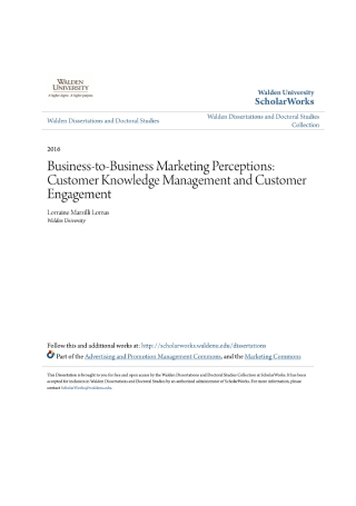 B2B Marketing Perceptions
