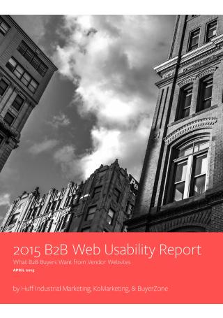 B2B Marketing Web Usability Report